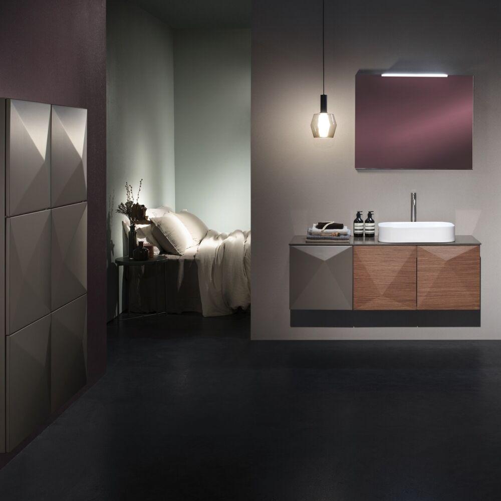 Gaia Mobili - complementi - mobili - studio - colonna piramida - 45x32x125H