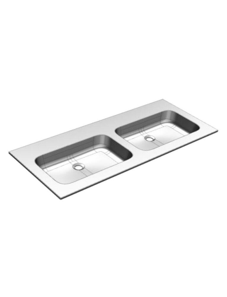 Gaia Mobili - complementi - lavabi - lavabi resina - PLANA141DV - lavabo in resina doppia vasca