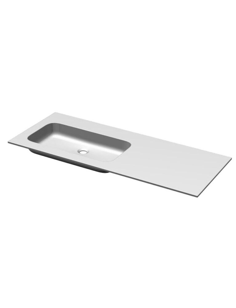 Gaia Mobili - complementi - lavabi - lavabi resina - PLANA106SX - lavabo in resina vasca sinistra