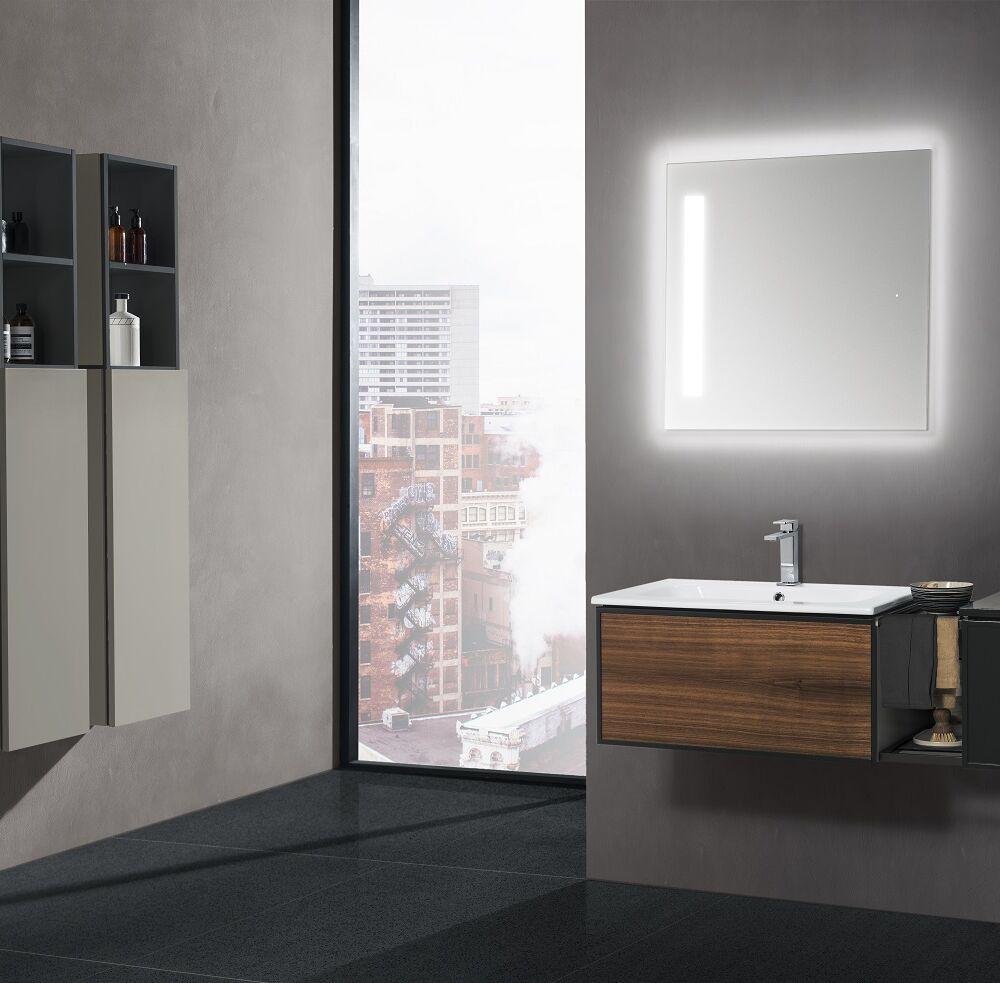 Gaia Mobili - complementi – mobili – studio - poliedrica 1 - lavabo in ceramica con mobile scocca