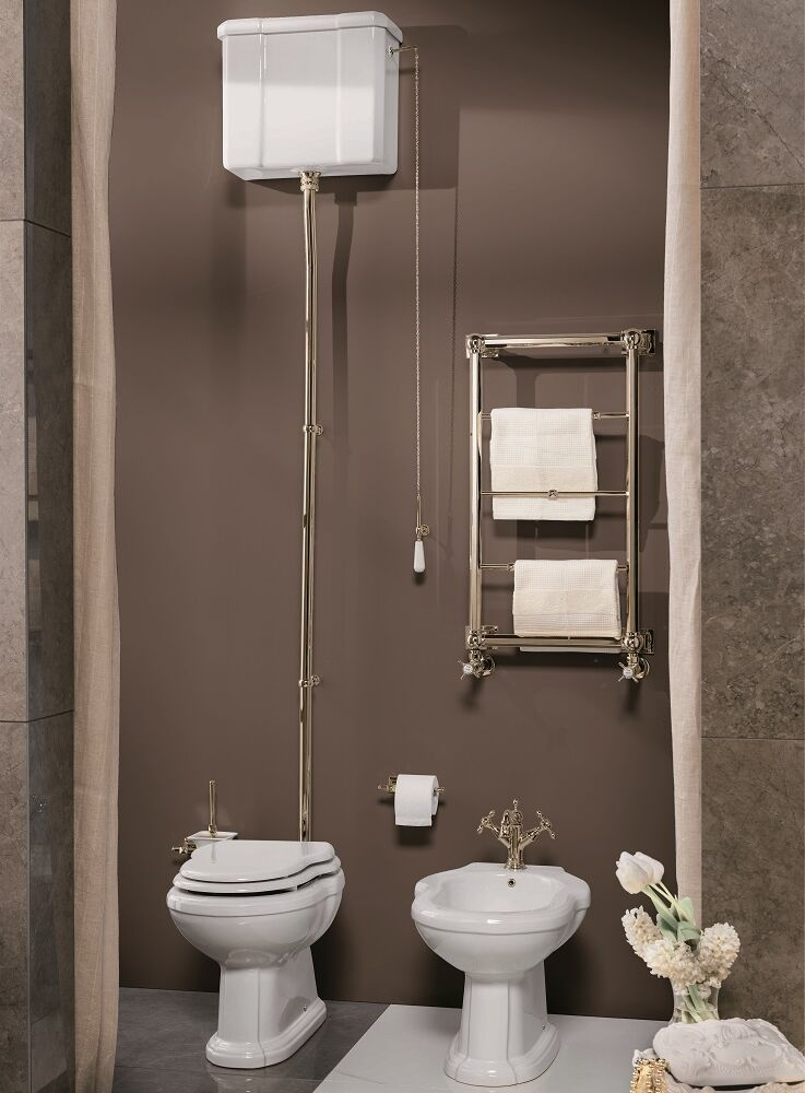 Gaia Mobili - complementi - Pompei - sanitari - PHPM01 + PHAL11 - Vaso in ceramica con cassetta bassa