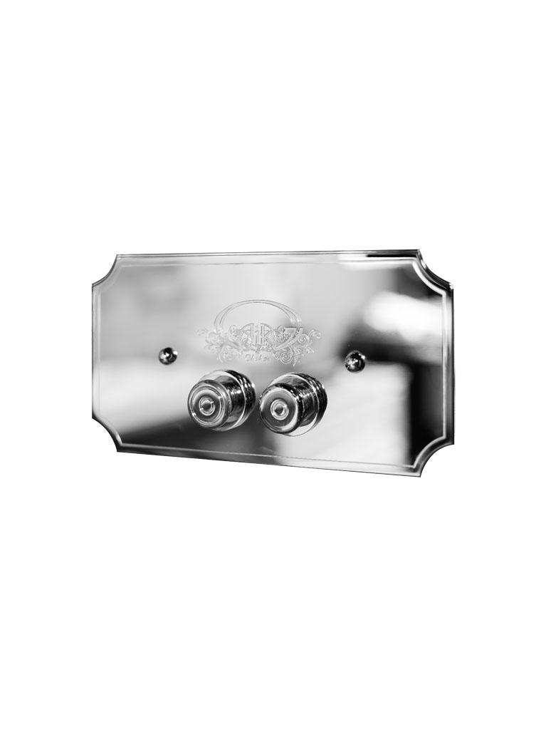 Gaia Mobili - accessori sanitari - complementi - sanitari - PSAC01 - Placca Symbol 2 pulsanti con Logo