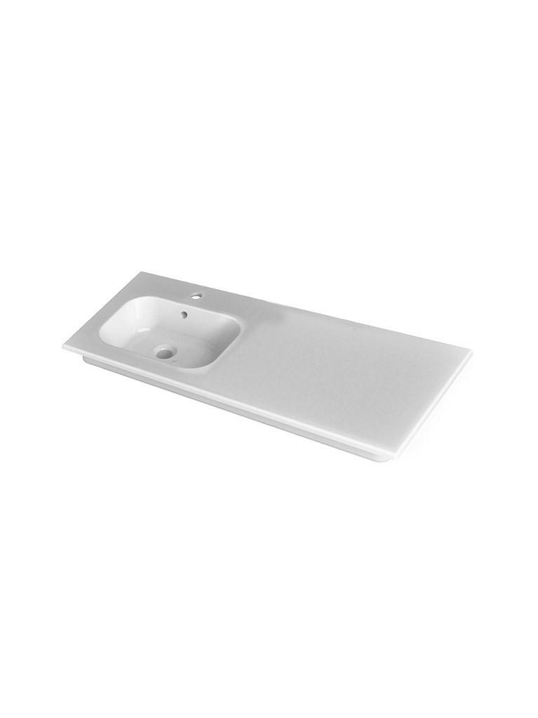 Gaia Mobili - complementi - lavabi - lavabi ceramica - QUBO121DSX - lavabo in ceramica cm 121x51,5