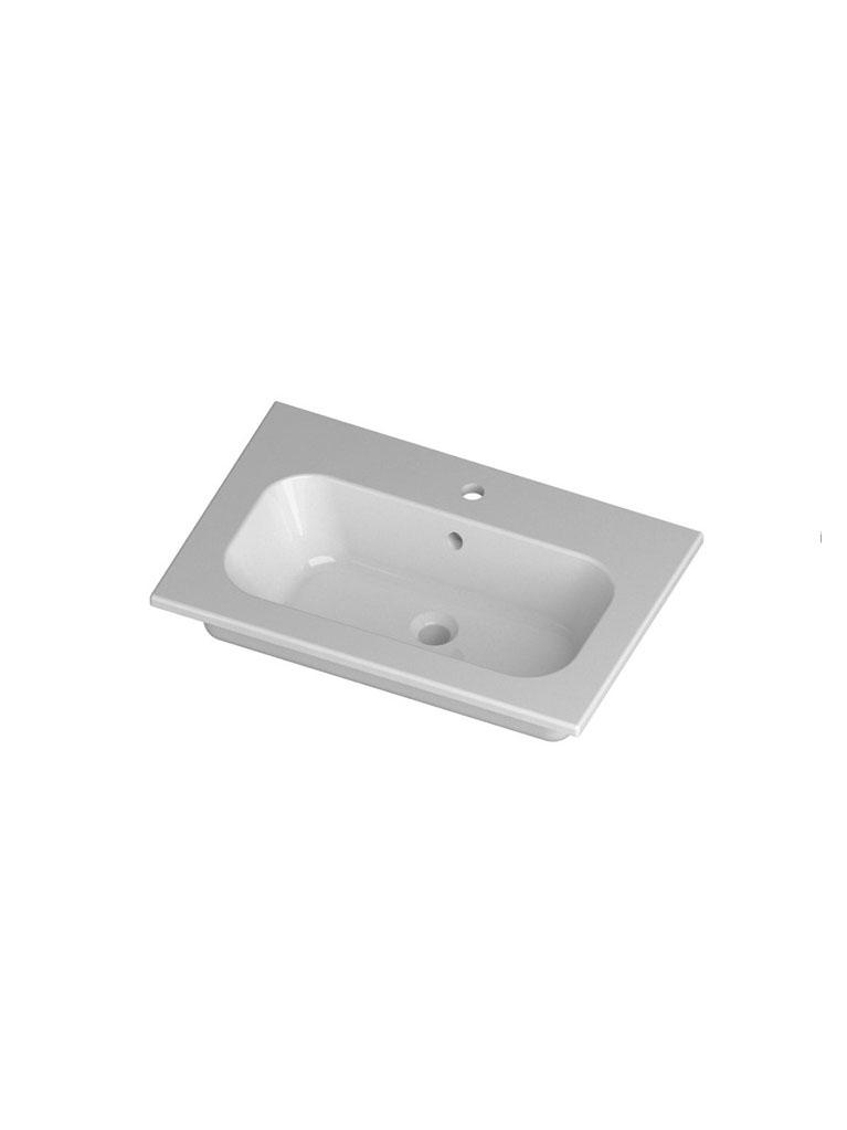 Gaia Mobili - complementi - lavabi - lavabi ceramica - QUBO71D - Lavabo in ceramica cm 71x51,5