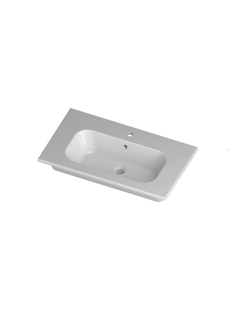Gaia Mobili - complementi - lavabi - lavabi ceramica - QUBO81D - Lavabo in ceramica cm 81x51,5