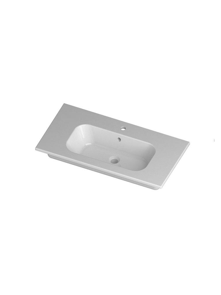 Gaia Mobili - complementi - lavabi - lavabi ceramica - QUBO91D - Lavabo in ceramica cm 91x51,5