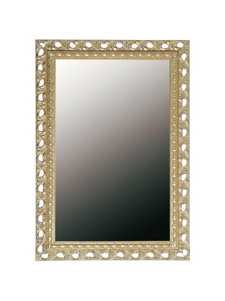 Gaia Mobili - complementi - specchiere - Raffaello - 70x100 Specchio con foglia argento meccata e anticata
