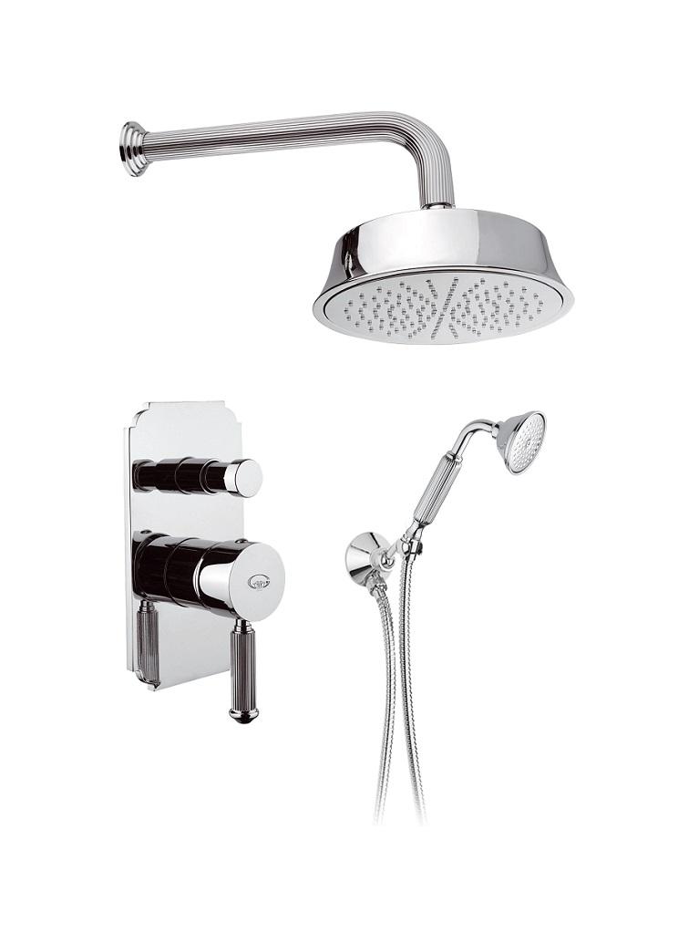 Gaia Mobili - complementi - olympia - rubinetteria - RB8598 - Olympia gruppo doccia incasso con doccetta e soffione 215 mm