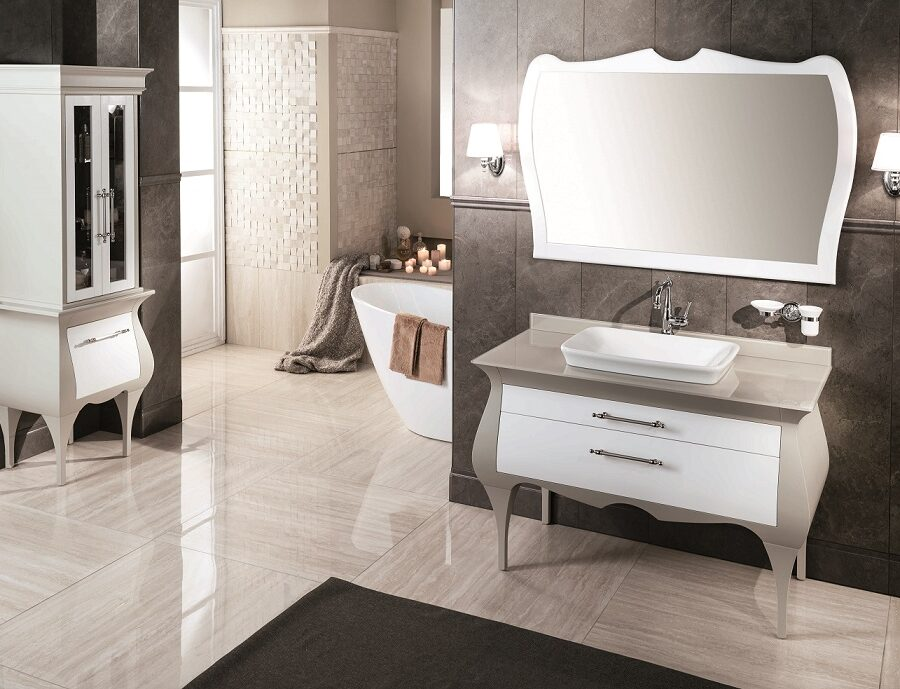 Gaia Mobili - complementi - Luxury - mobili - Rialto 1 - Mobile in Finitura Laccato Opaco RAL 7044-9003
