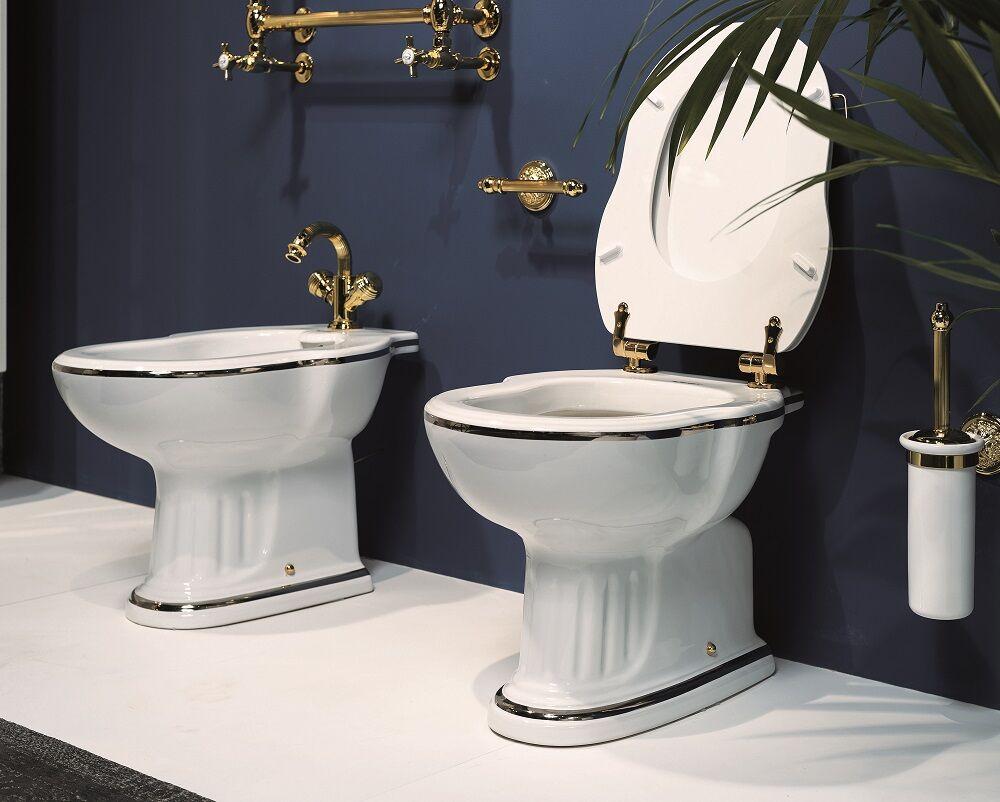 Gaia Mobili - complementi - Roma - sanitari - PHRM01 + PHAL12 - Vaso in ceramica con cassetta alta