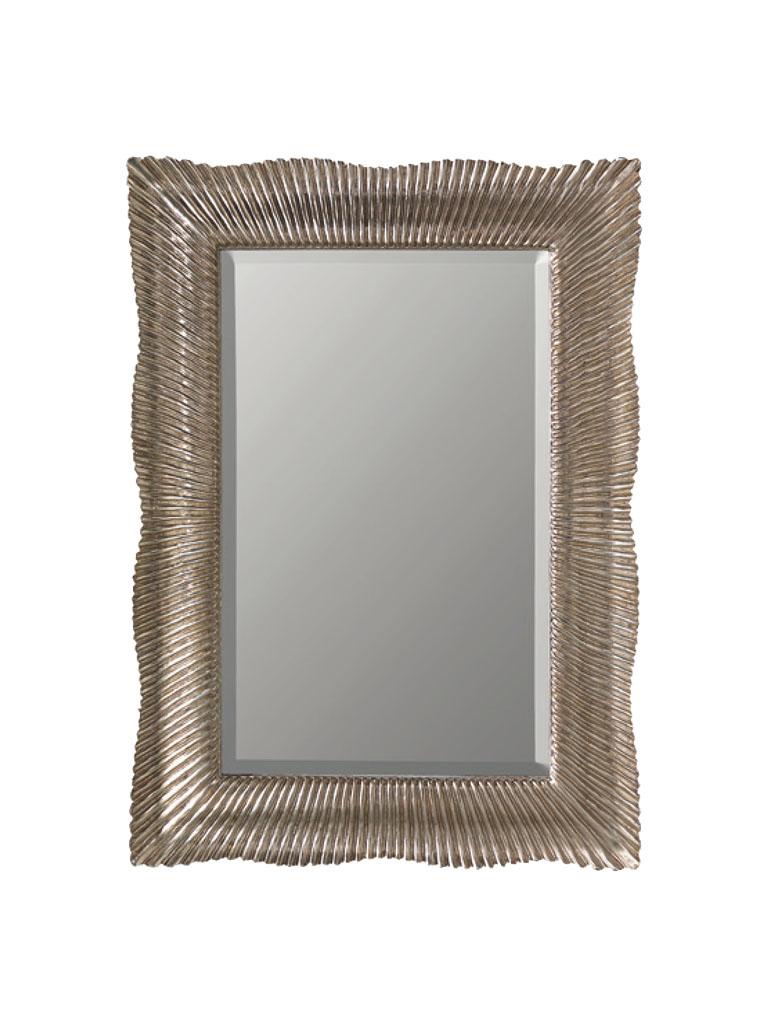 Gaia Mobili - complementi - specchiere - Samira - 84x116 Specchio Foglia Argento Anticata