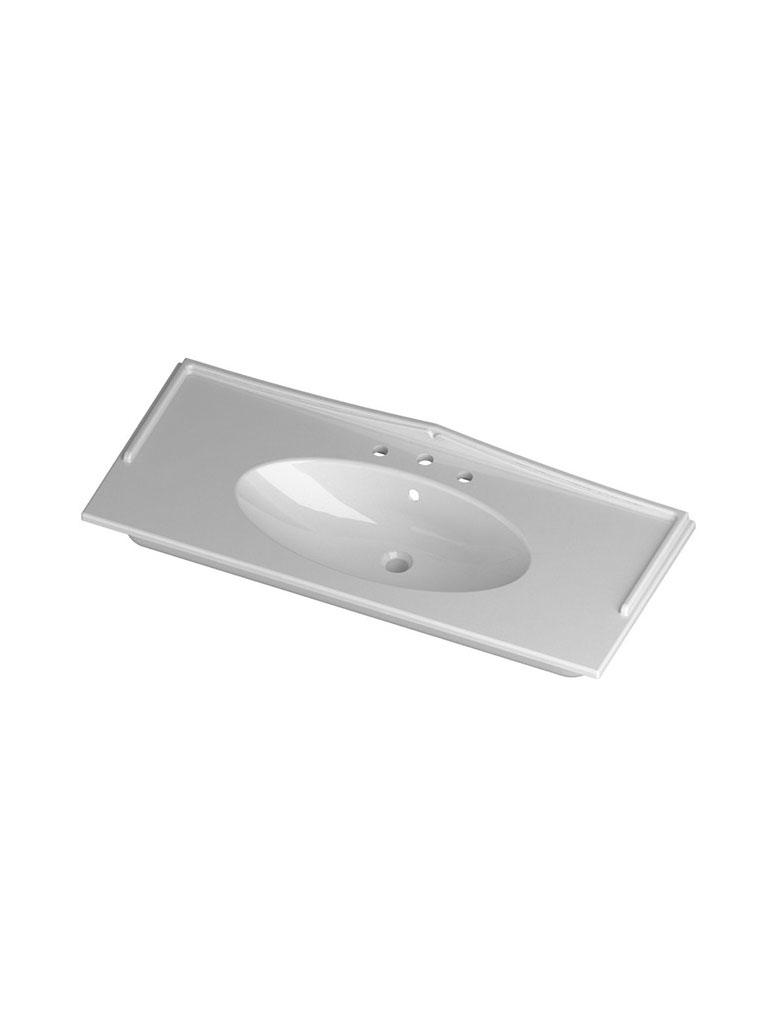 Gaia Mobili - complementi - lavabi - lavabi ceramica - SFERA121D Lavabo in ceramica cm 121x51