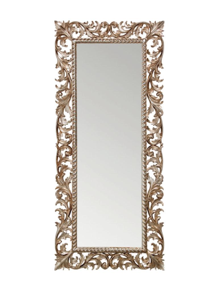 Gaia Mobili - complementi - specchiere - Slovenia - 80x180 Specchio Foglia Argento Anticato