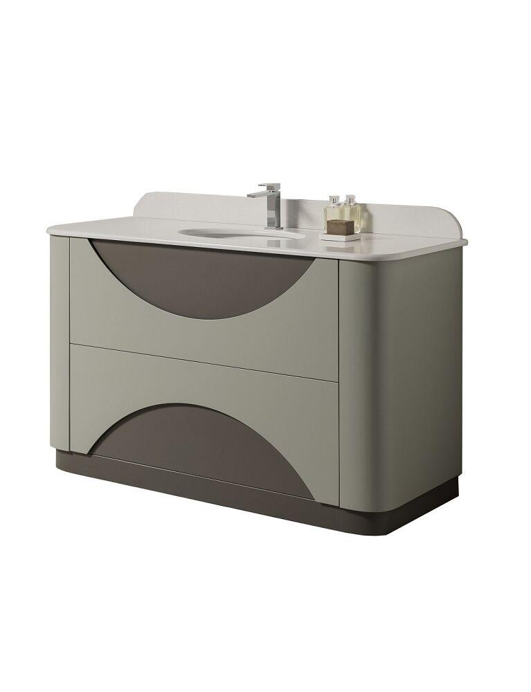 Gaia Mobili-Collection-Furniture-New Style-Smile - lavabo in ceramica con top in marmo tecnico