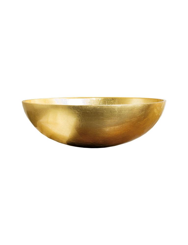Gaia Mobili - complementi - lavabi - lavabi cristallo - TONDO1 - Lavabo in cristallo da appoggio foglia oro