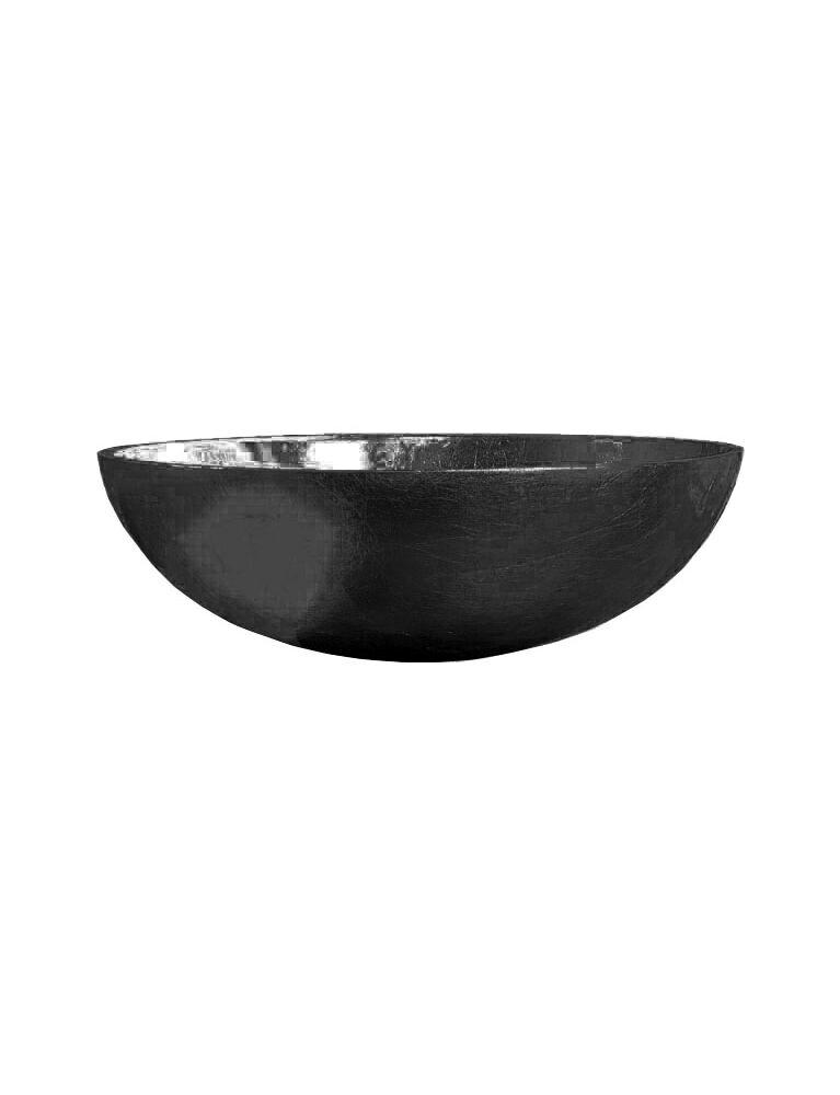 Gaia Mobili - complementi - lavabi - lavabi cristallo - TONDO7 - lavabo in cristallo da appoggio nero