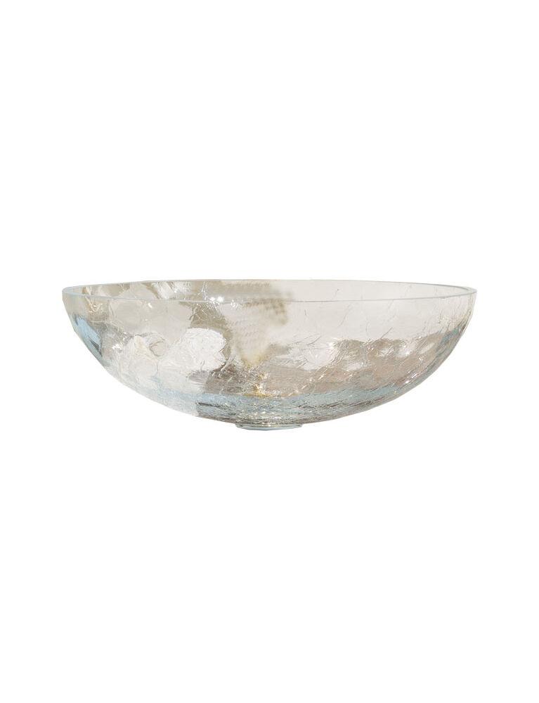 Gaia Mobili - complementi - lavabi - lavabi cristallo - TONDOCRA - lavabo da appoggio in vetro craquelè