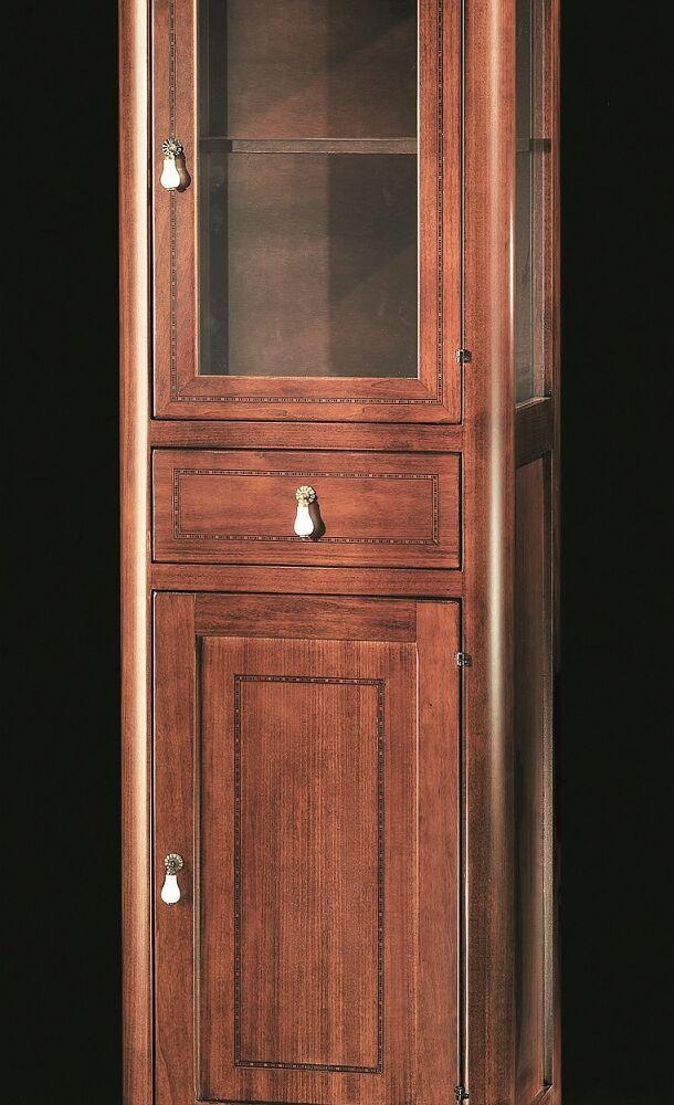 Gaia Mobili - Classic - complementi - mobili - Vetrina Ischia - Mobile in finitura noce intarsiato 50x38x160