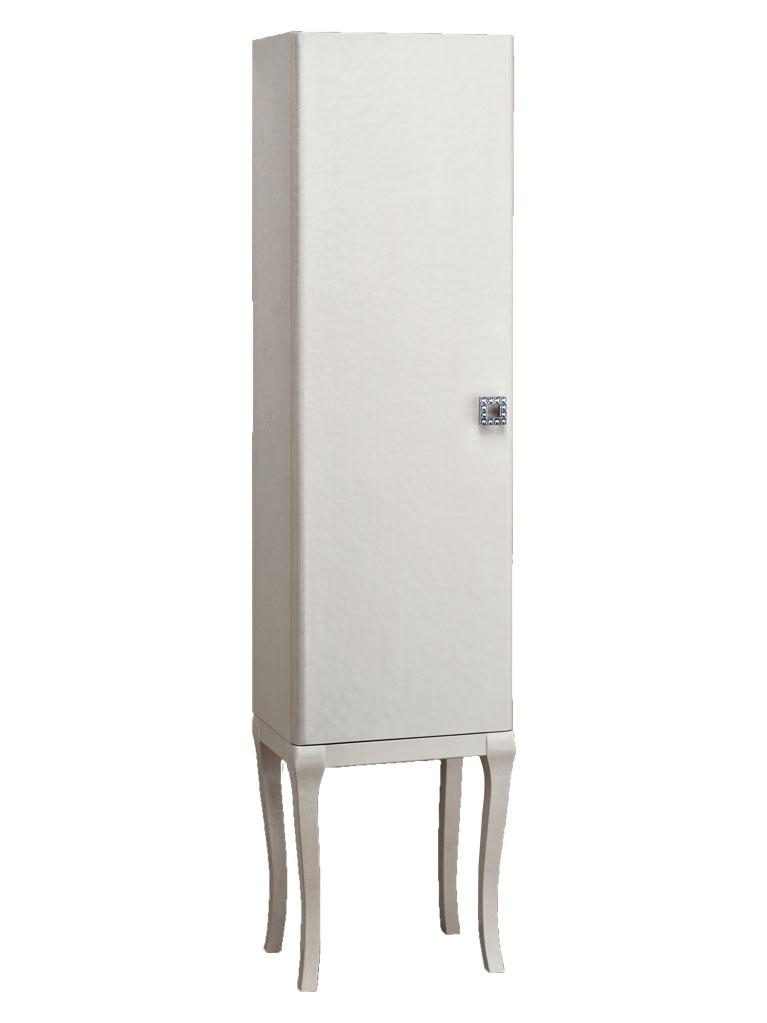 Gaia Mobili - Classic - complementi - mobili - Vetrina Aura - Mobile in Finitura Laccato Lucido Madreperla 40x33x160h