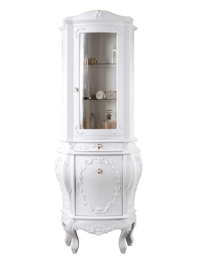 Gaia Mobili - complementi - Luxury - mobili - Vetrina Doge - mobile in finitura laccato opaco 71x42x179h