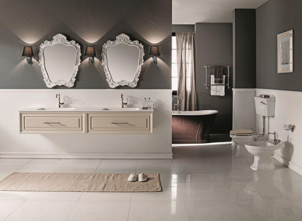 mobile bagno contemporary bianco - ispirazione arredo bagno Cersaie 2021