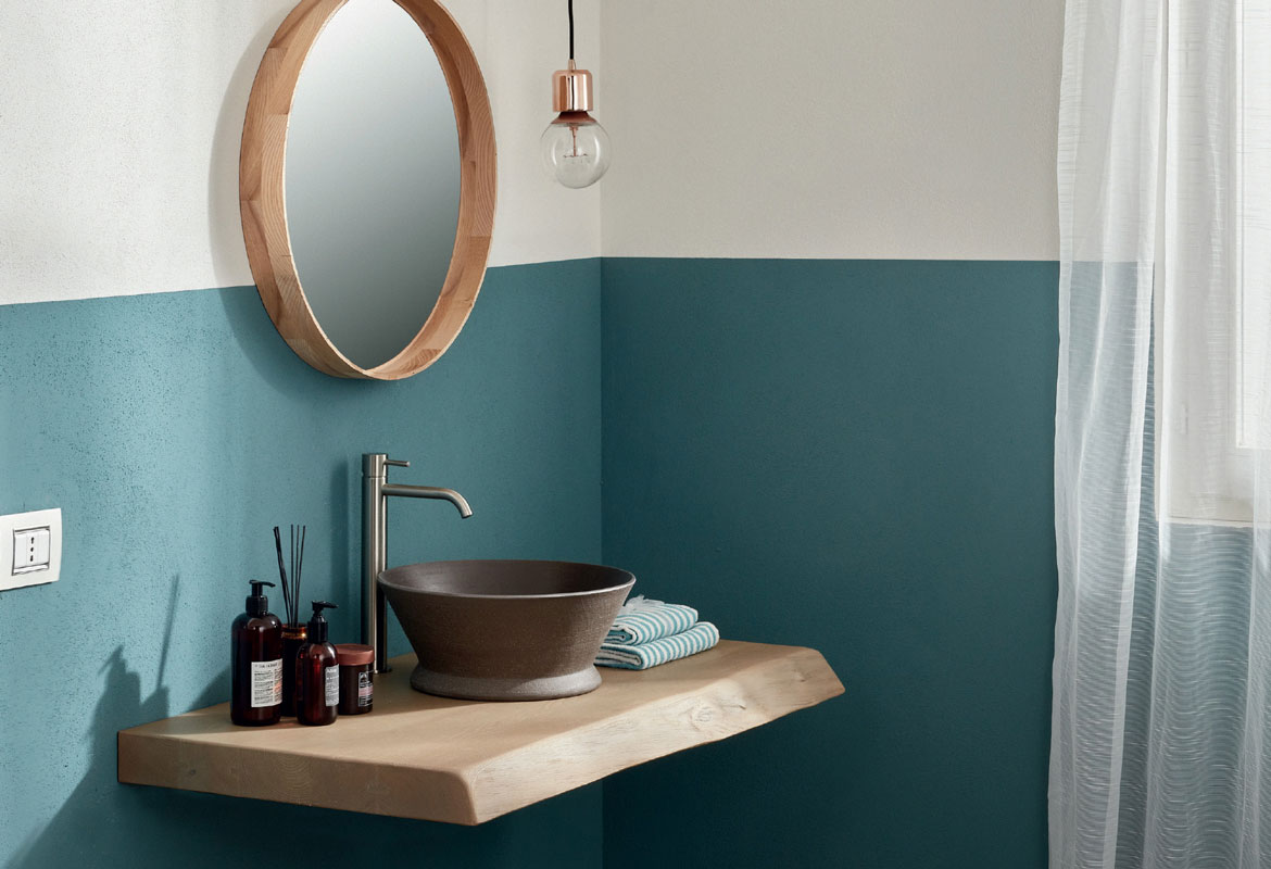 Wood shelf - modern and minimalist bathroom furniture