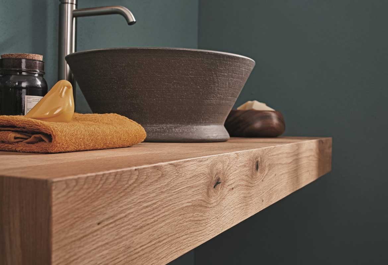 top per il bagno in legno - mensolone per arredo bagno ripiano lavandino