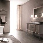 arredo bagno - mobile per il bagno in legno con rivestimento in tessuto