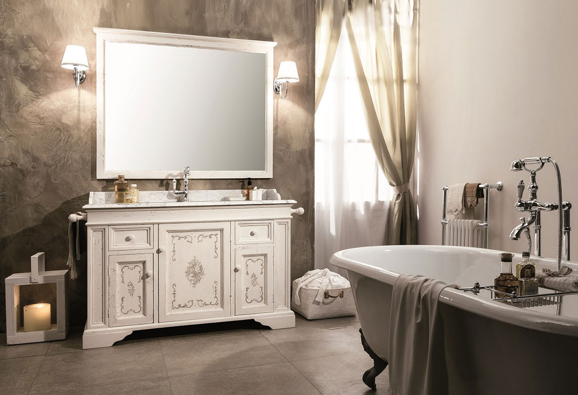 classic style hand-decorated bathroom furniture - handcrafted bathroom furniture